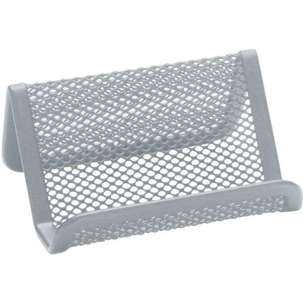 Stojánek na vizitky Q-Connect, stříbrný