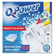 Tablety do myčky Q Power Multiactiv Brill, 25 ks
